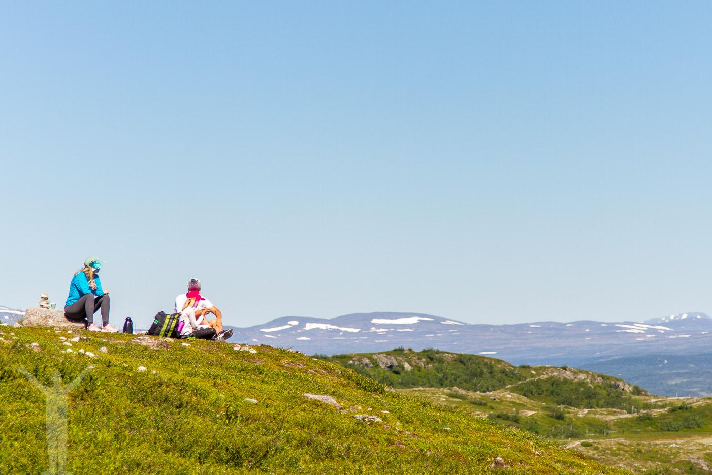 En fikapaus på toppen av Funäsdalsberget