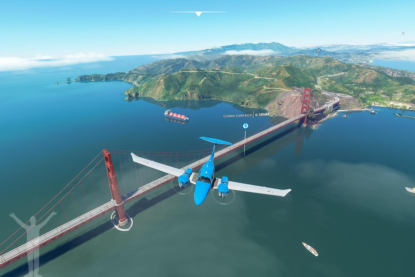 Golden Gate-bron i SFO