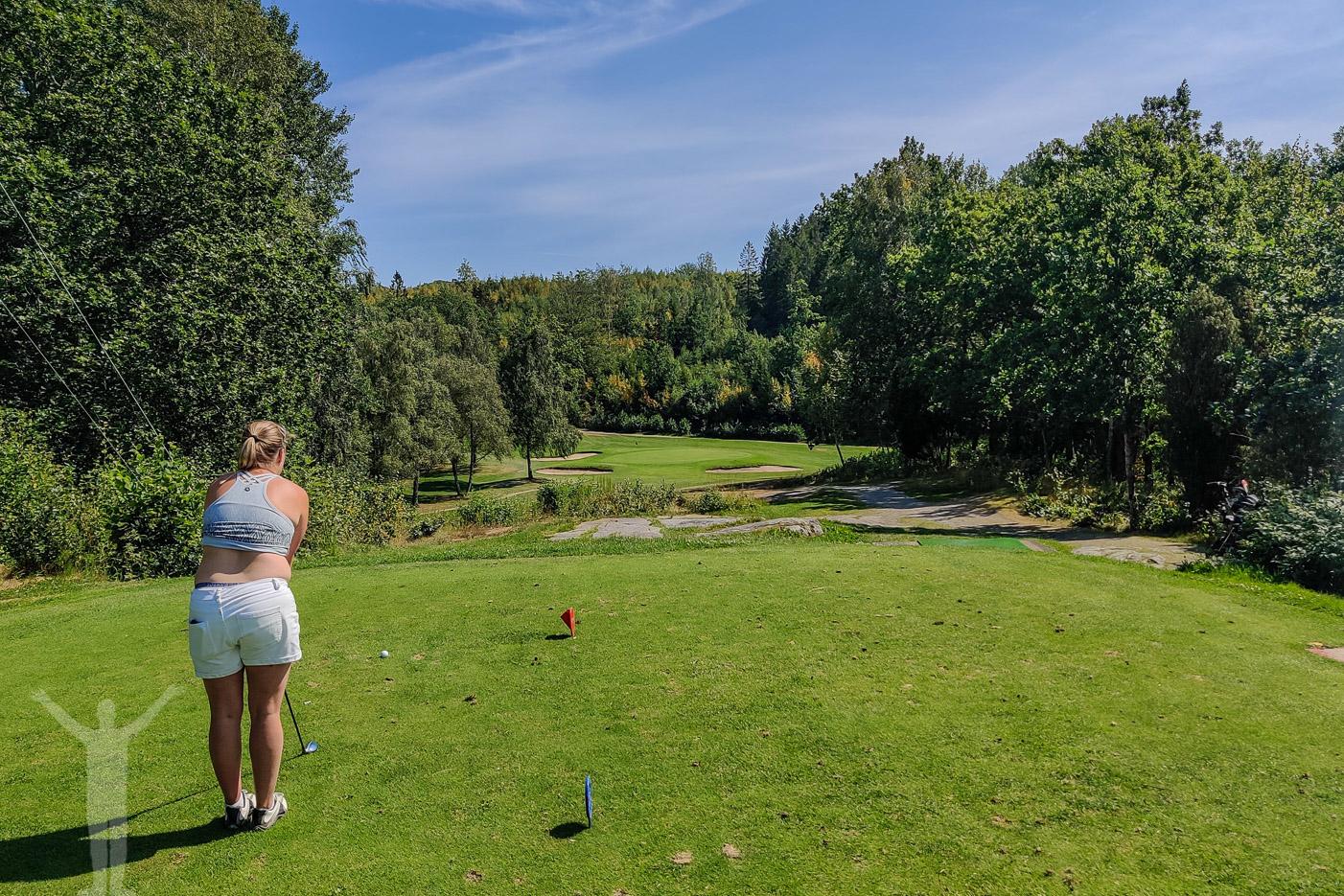 16:e tee på Torreby Golfklubb, Munkedal