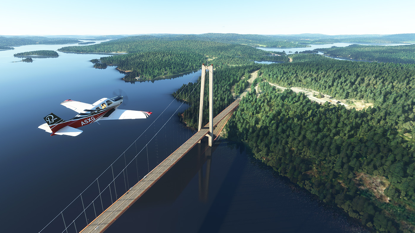 Höga Kustenbron i Microsoft Flight Sim 2020