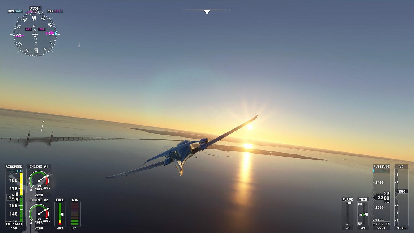 Öresundsbron i Microsoft FlightSimulator 2020