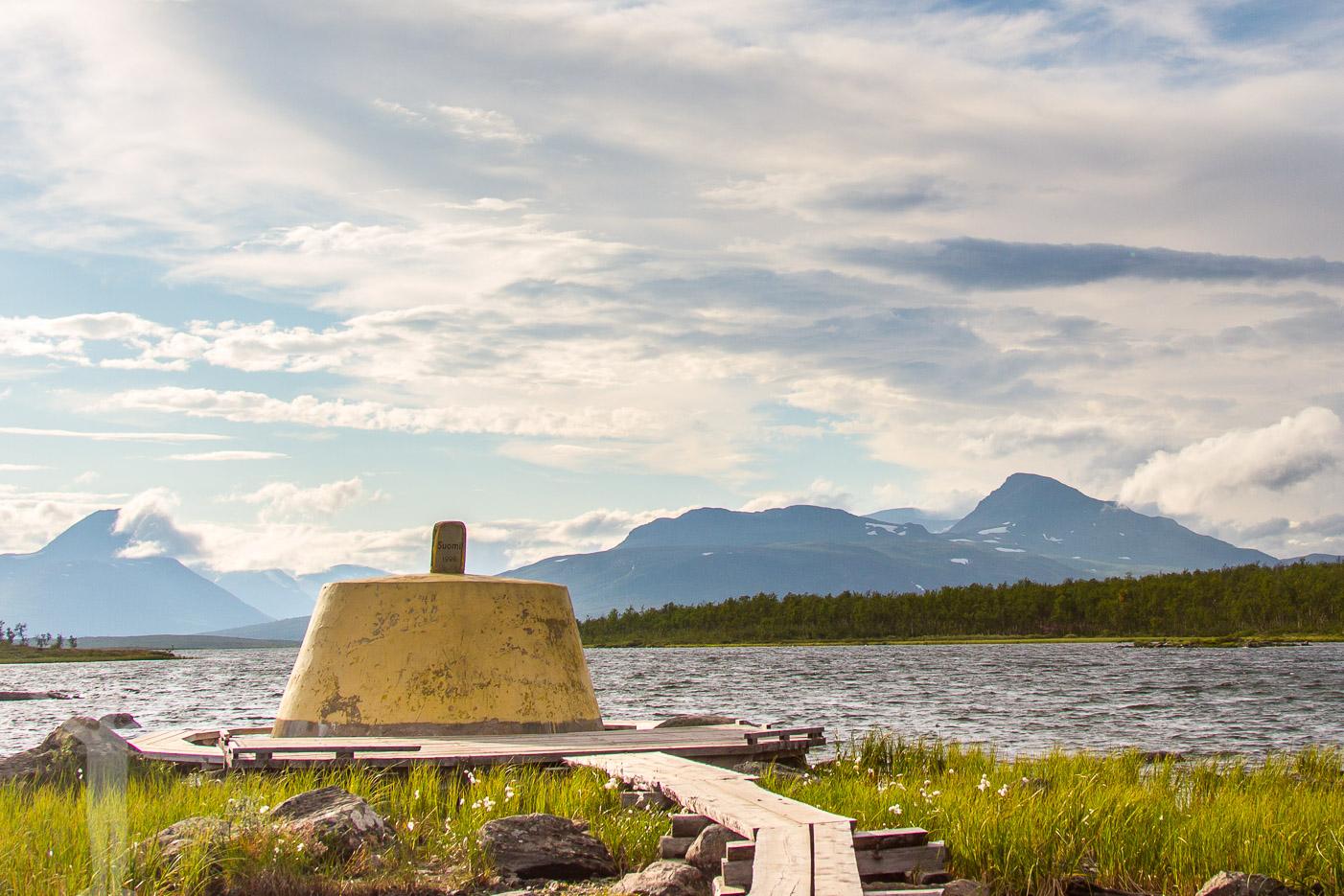 Treriksröset - gränsen mellan Sverige, Norge och Finland